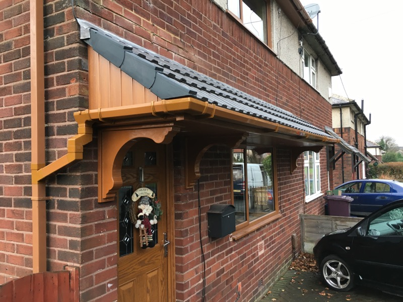 Brown Door Canopy
