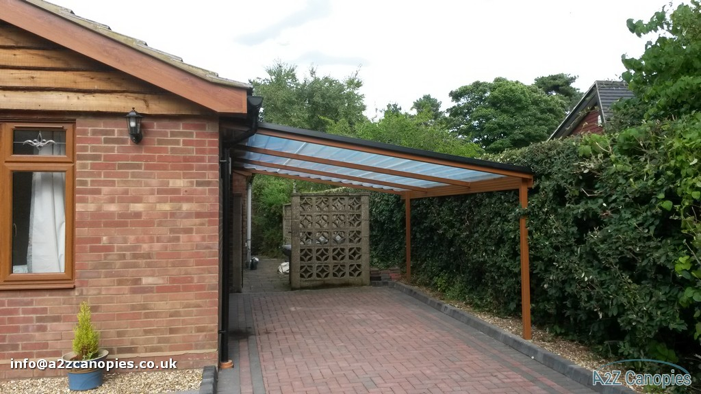 Brown Lean To Canopy & Oak Brown Lean To Canopy-A2z Canopies -2018