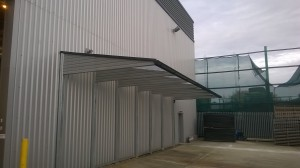 Commercial GPR cantilevered Canopy