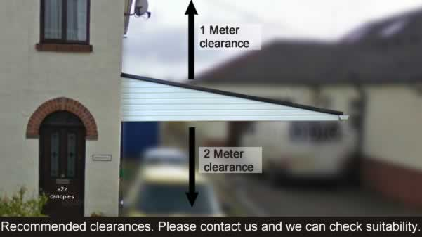 Recommended Clearances Carport