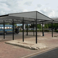 Carwash Cantilever Canopy Installation By A2z Canopies